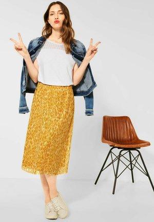 A-line skirt - gelb