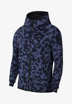 HOODIE  - Zip-up hoodie - dark obsidian/black