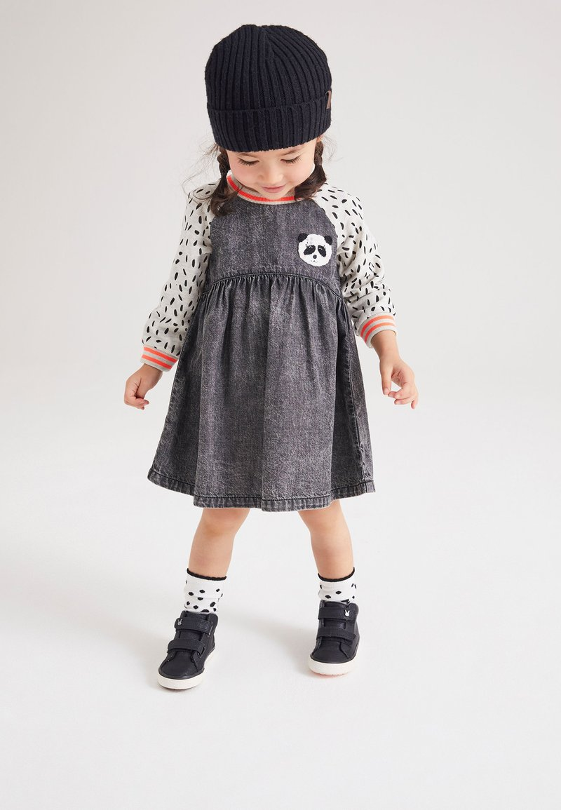 Next - PANDA  - Denim dress - dark grey