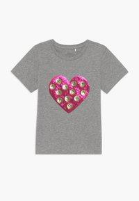 Name it - NKFDITTA - Print T-shirt - grey melange - 0