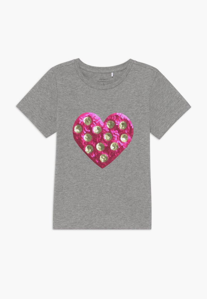 Name it - NKFDITTA - Print T-shirt - grey melange