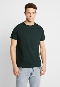 Burton Menswear London - BASIC CREW 5 PACK - T-shirt - bas - white - 2