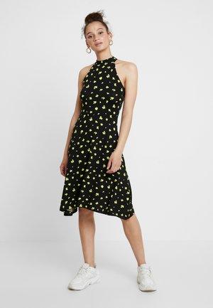 Vestido ligero - black/yellow