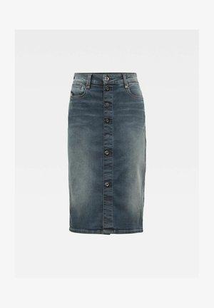 Denim skirt - worn in smokey night