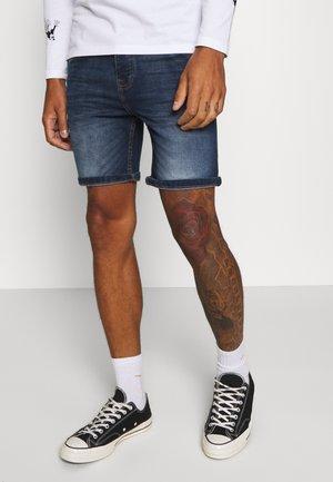 Denim shorts - dark blue wash