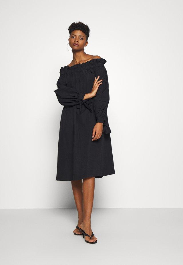 KAMILA OFFSHOULDER DRESS - Day dress - black