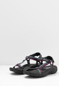 Skechers - REGGAE - Walking sandals - black/teal/pink - 4