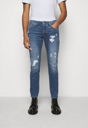 ROCCO DESTROYED - Jean slim - blue denim