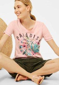 Cecil - Print T-shirt - rosa - 2