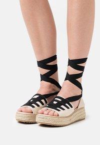 Emmshu - FORTUNE - Platform sandals - beige - 0