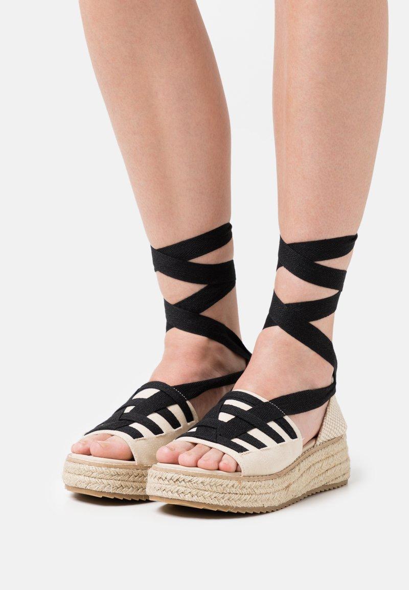 Emmshu - FORTUNE - Platform sandals - beige