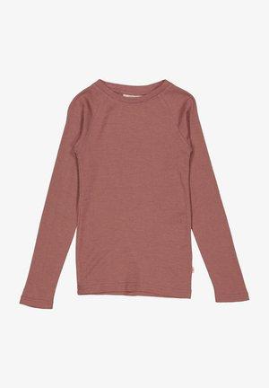 LONG-SLEEVE - Long sleeved top - rose brown