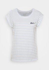 TEE - Print T-shirt - pastel blue
