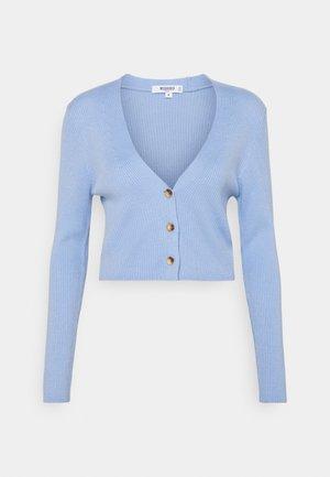 CROP CARDIGAN - Cardigan - pale blue