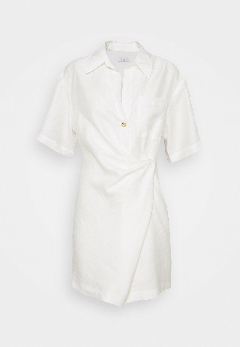 sandro - Shirt dress - blanc