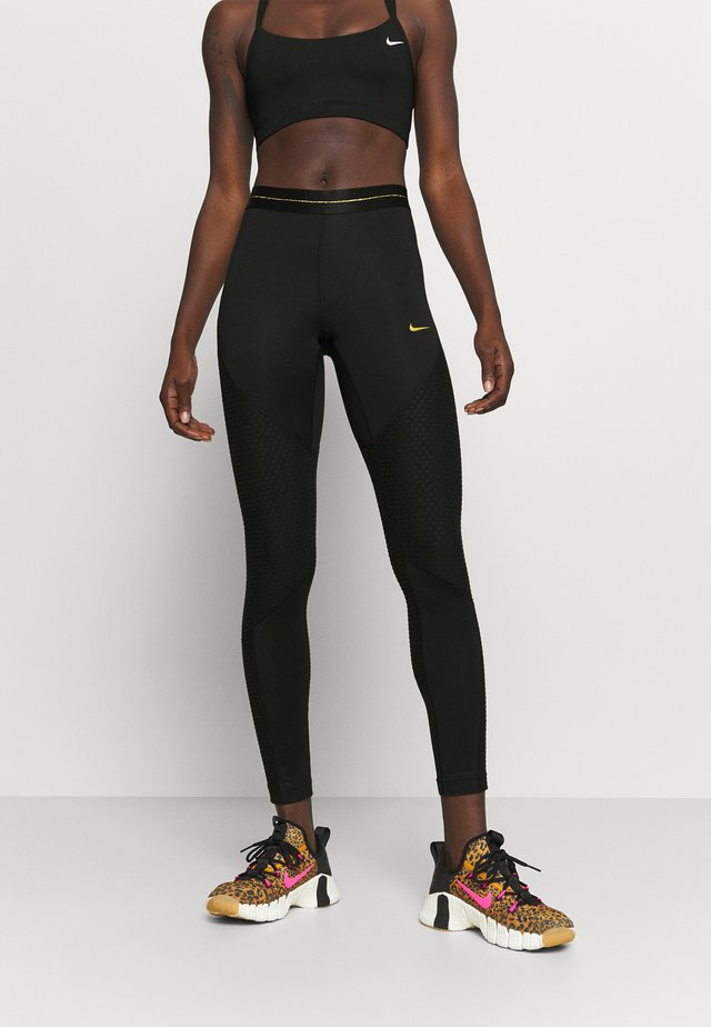 Tights - black/gold