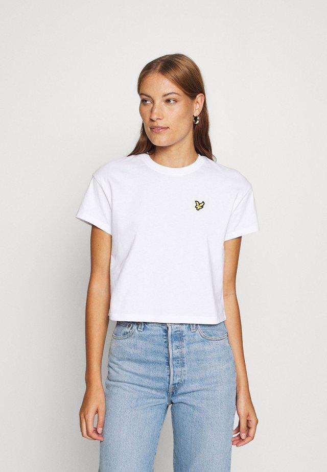 CROPPED - T-shirt basic - white
