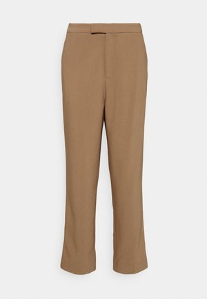 High Waist Trousers - Trousers - beige