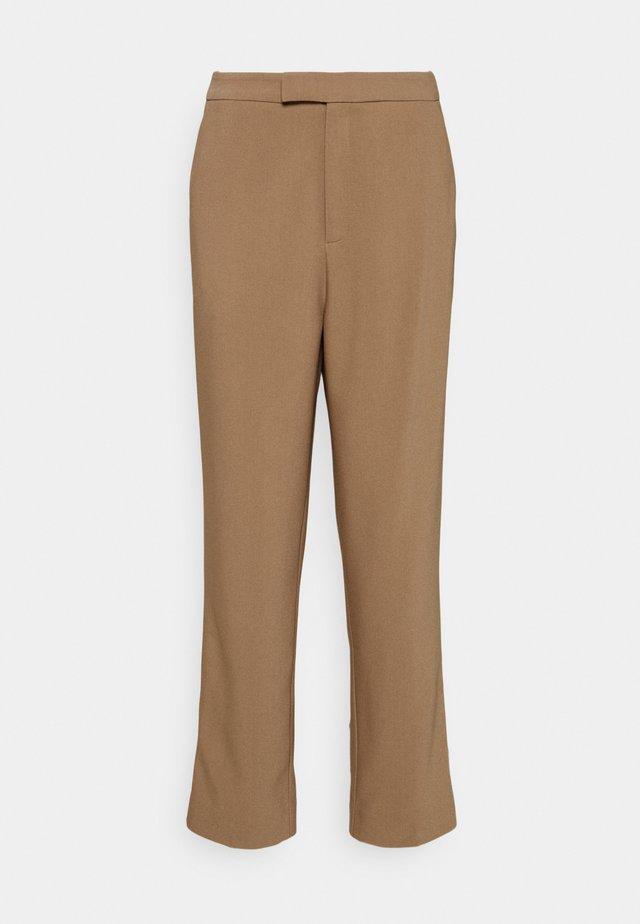 High Waist Trousers - Pantaloni - beige