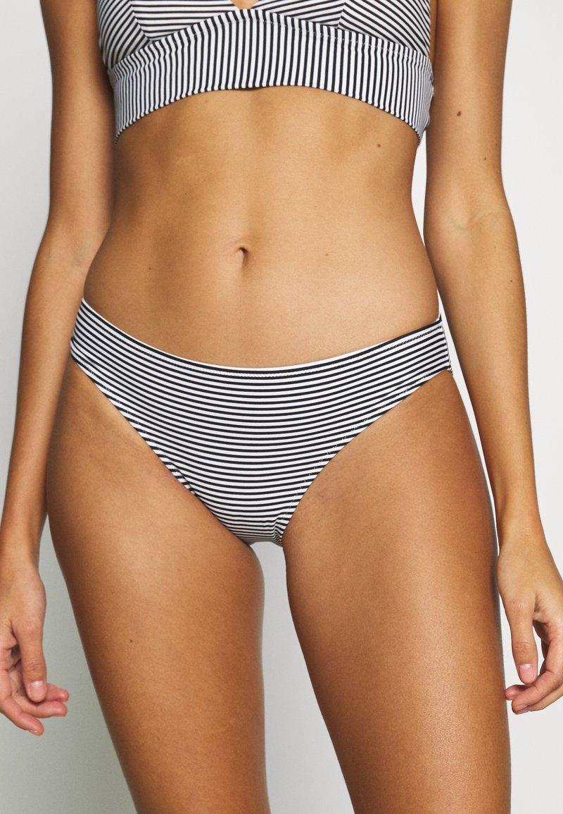 aerie - BASIC PRINTED FEEDER STRIPE - Bikini bottoms - true black