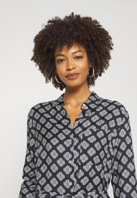 Marc O'Polo - DRESS STYLE BREAST POCKET SMALL BELT PRINTED - Shirt dress - black - 3