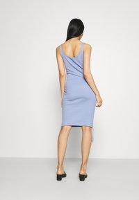 Noisy May - NMSTINE ROUCHING DRESS - Jersey dress - purple impression - 2