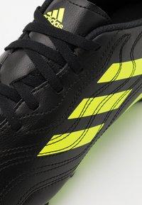 adidas Performance - COPA SENSE.4 FXG - Moulded stud football boots - core black/solar yellow - 5