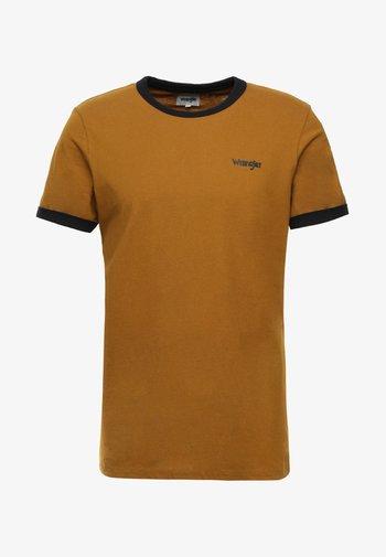 RINGER TEE - T-shirt - bas - golden brown