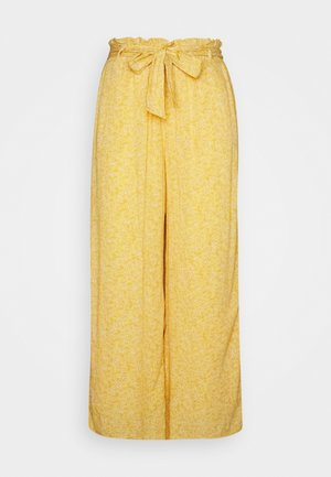 WIDE LEG  - Trousers - yellow