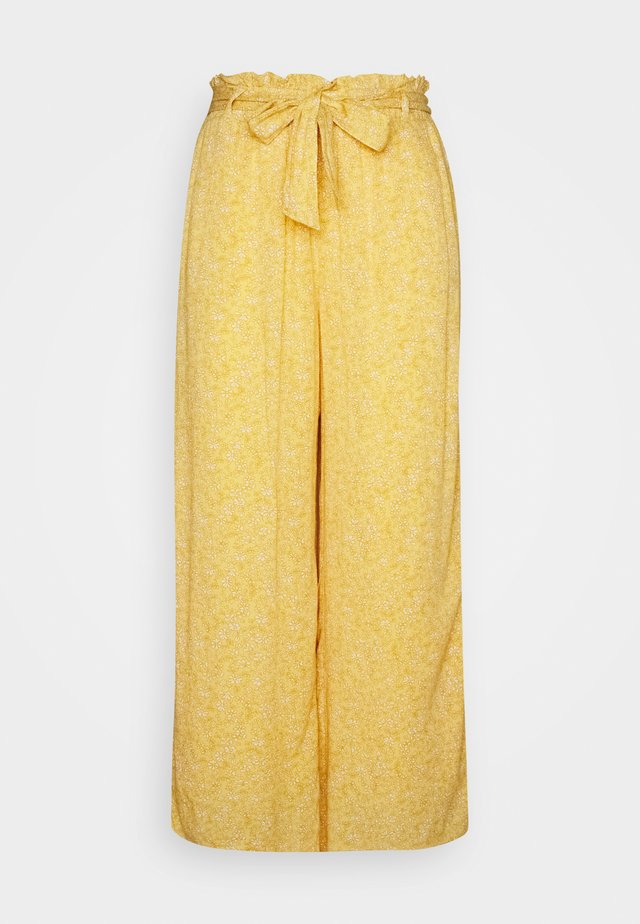 WIDE LEG  - Tygbyxor - yellow