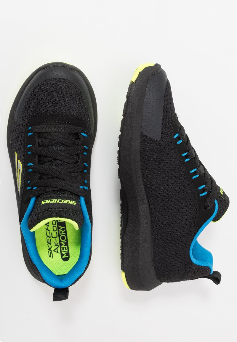 Skechers - DYNAMIC TREAD - Trainers - black/blue/lime