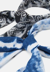 Zign - UNISEX 2 PACK - Foulard - black/blue - 1