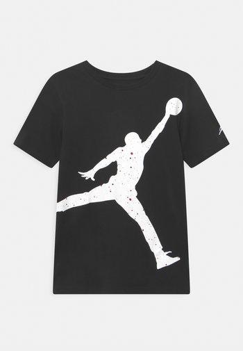 OVERSIZE SPECKLE JUMPMAN - T-shirt med print - black