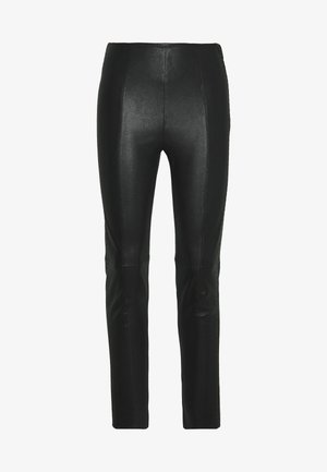 BROOKLYN LUXURY ROCKSTAR PANTS - Leather trousers - black