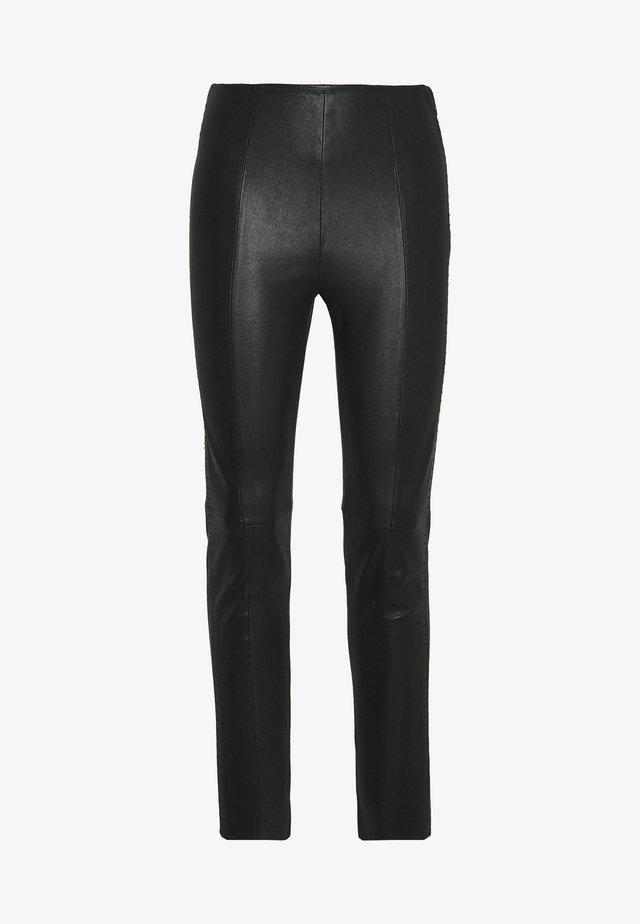 BROOKLYN LUXURY ROCKSTAR PANTS - Leather trousers - black