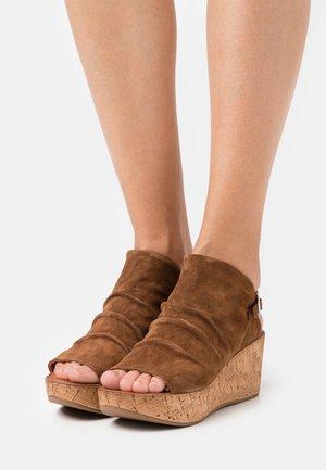 MONACO - Platform sandals - brown