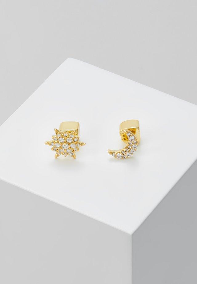ASYMMETRICAL STUDS - Boucles d'oreilles - clear/gold-coloured