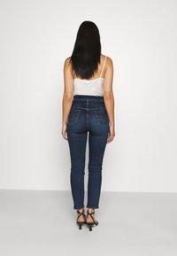 7 for all mankind - PAPERBAG PANT SOHO DARK - Slim fit jeans - dark blue - 2