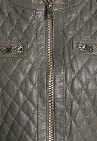 Oakwood - IRINA - Leather jacket - light grey - 2