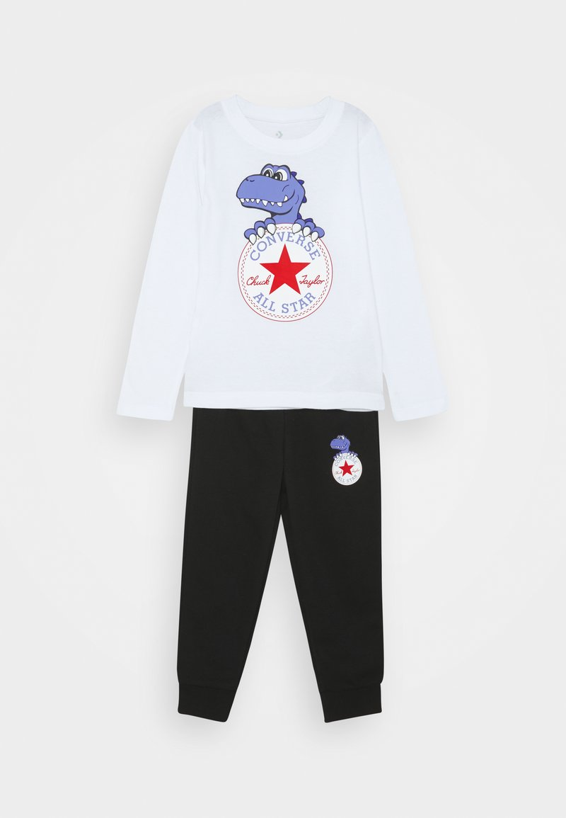 Converse - STAR JOGGER AND TEE SET UNISEX - Maglietta a manica lunga - white