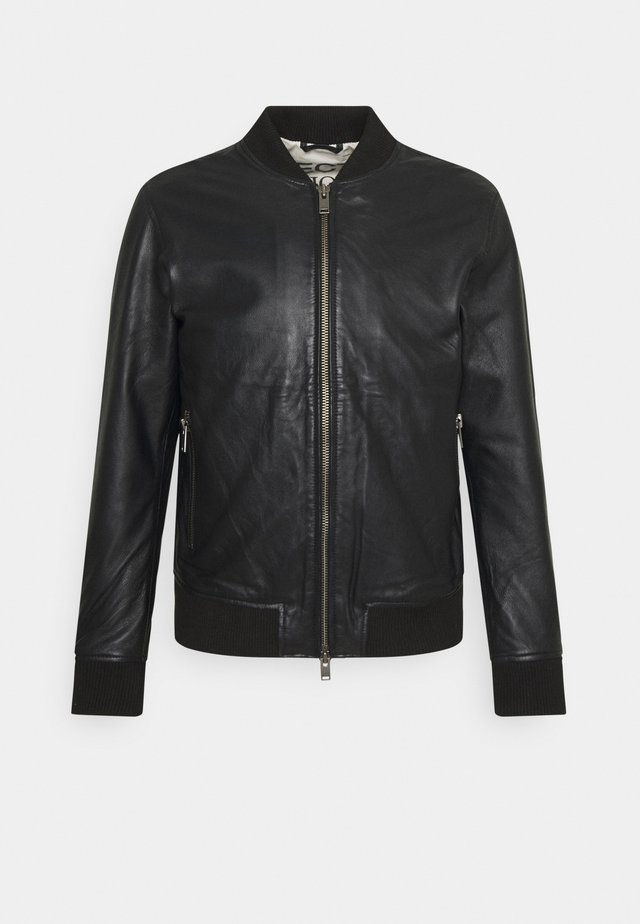 SLHICONIC - Leather jacket - black