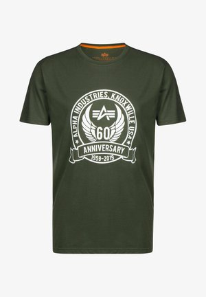 ANNIVERSARY - Print T-shirt - dark olive