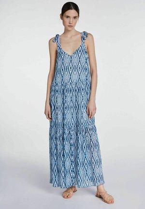 MIT TIE-DYE PRINT - Maxi dress - white blue