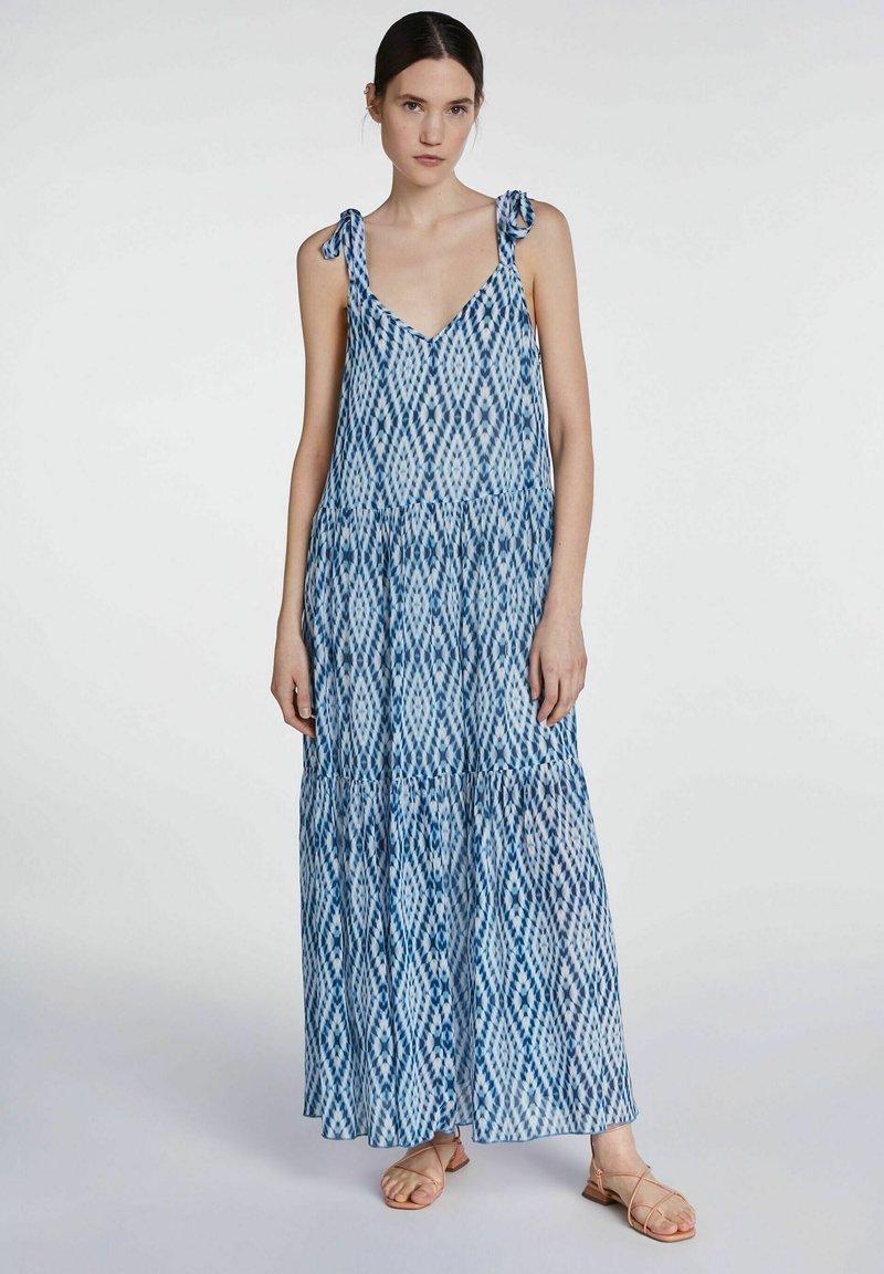 SET - MIT TIE-DYE PRINT - Maxi dress - white blue