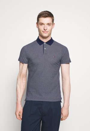 MICRO SLIM - Polo shirt - yale navy/desert sky/white