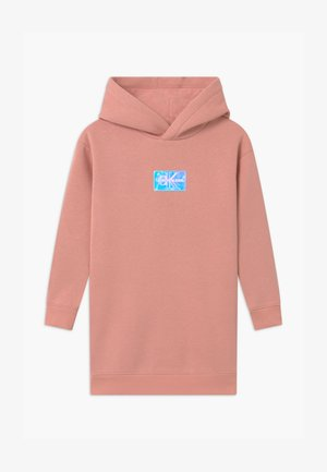 MONOGRAM BADGE HOODIE - Day dress - pink