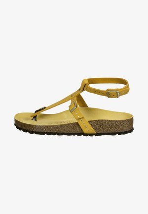 T-bar sandals - ochre rivets