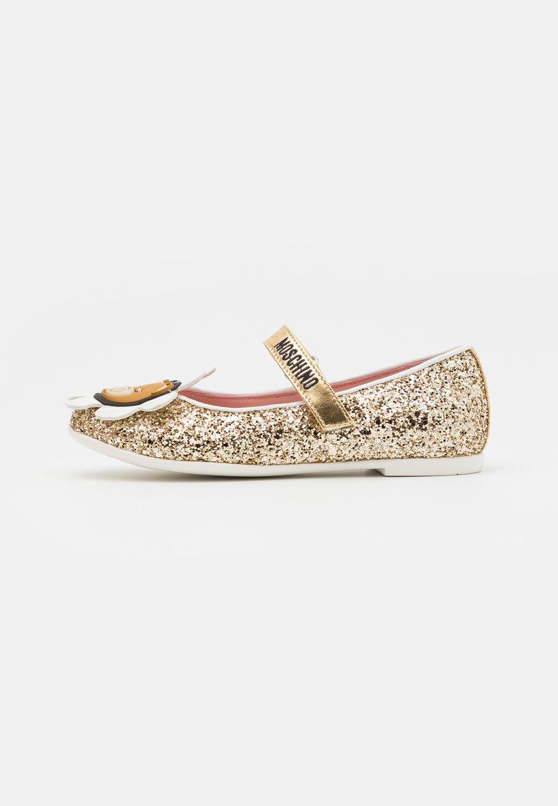 MOSCHINO - Ballerina's met enkelbandjes - gold