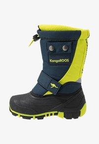 KangaROOS - BEAN - Zimní obuv - darkk navy/lime - 1