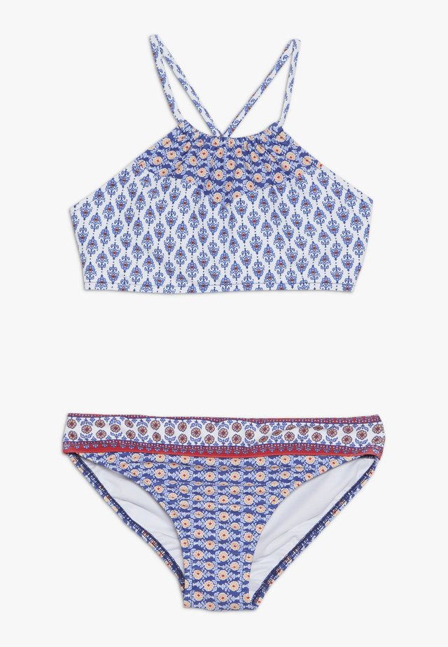 RUCHED NECK - Bikini - blue